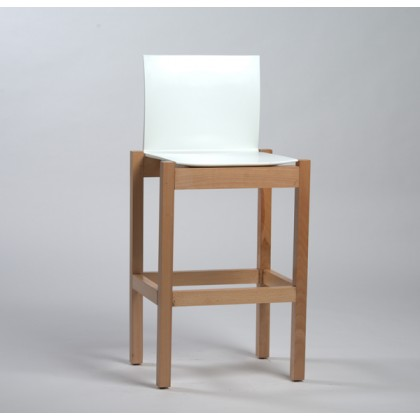 tabouret fly wood couleur blanc