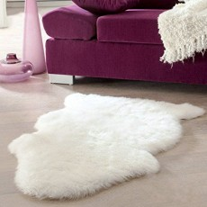 Uper Soft Faux Sheepskin Chair Cover Warm Hairy Carpet Seat Pad