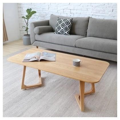 Salon simple en bois petite table basse en bois massif. Couleur Cafe