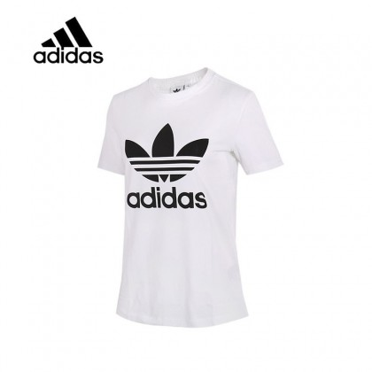 T Couleur Adidas Manche Shirt Pour S Blanc Original Courte Femmes Taille WrdCxBoe
