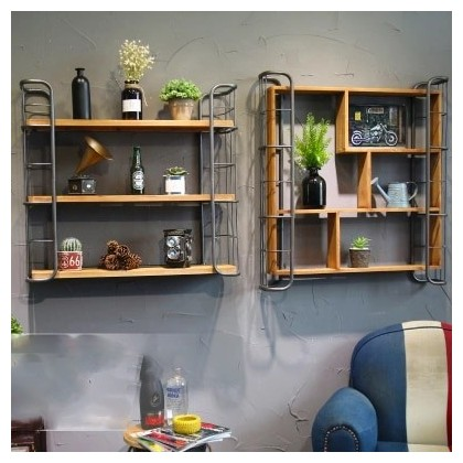 American Industrial Style Retro Bar Restaurant Wall Decoration Shelf ...