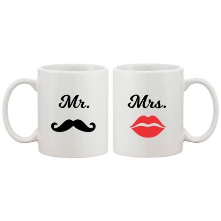 Maxforever Lot de 2 Porte-cl/és pour Couple /« Mr.Right /& Mrs.Always Right /» Argent/é