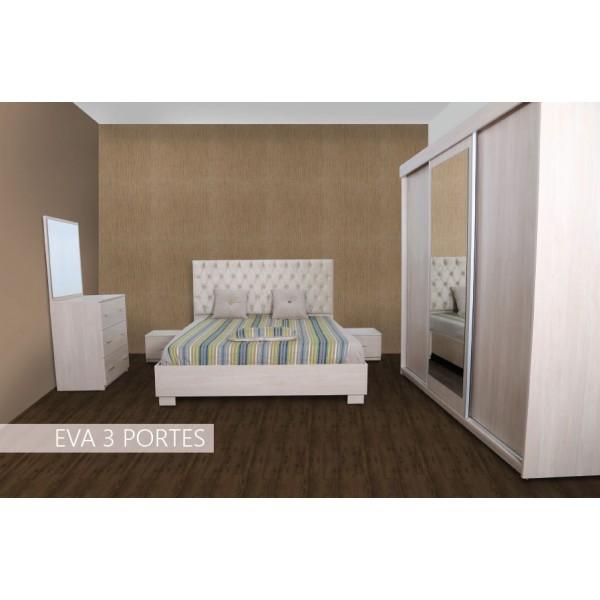 Chambre à coucher EVA Penderie 4 portes