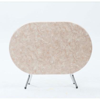 Table Rabatable Ovale Socle Peint Couleur Blanc Hauteur 75 Cm